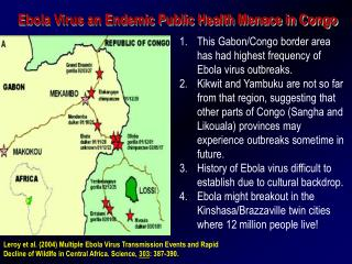 Ebola Virus an Endemic Public Health Menace in Congo