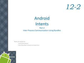 Android  Intents Part 2 Inter-Process Communication Using Bundles