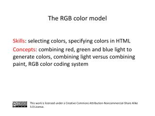 S kills : selecting colors, specifying colors in HTML
