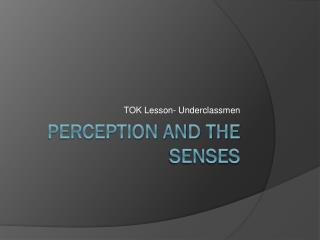Perception and the senses