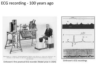 Einhoven's first practical ECG recorder (Nobel prize in 1924)