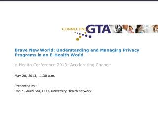Brave New World: Understanding and Managing Privacy Programs in an E-Health  World