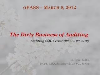 oPASS  – March 8, 2012