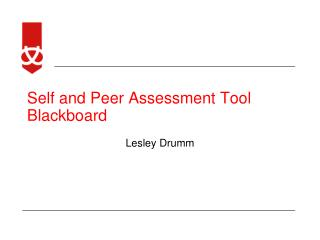 Self and Peer Assessment Tool Blackboard
