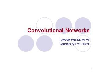 Convolutional Networks