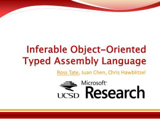 Inferable Object-Oriented Typed Assembly Language