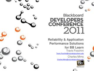 Reliability & Application Performance Solutions for BB Learn