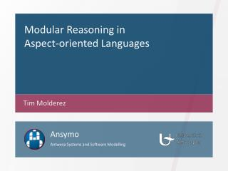 Modular  Reasoning  in Aspect- oriented Languages