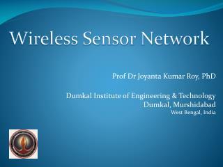 Prof Dr  Joyanta Kumar Roy, PhD
