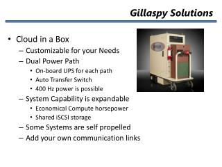 Cloud in a Box Customizable for your Needs Dual Power Path On-board UPS for each path