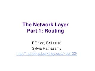 The Network Layer Part 1: Routing