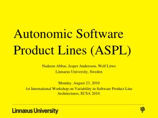 Autonomic Software Product Lines (ASPL)