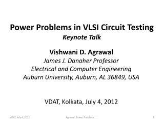 Power Problems in VLSI Circuit Testing Keynote Talk
