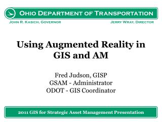 2011 GIS for  Strategic  Asset Management Presentation