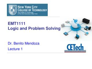 EMT1111  Logic and Problem Solving
