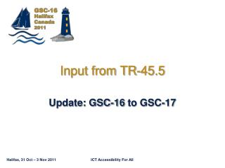 Input from TR-45.5