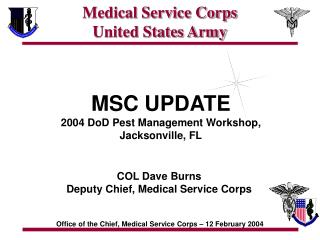 Medical Service Corps United States Army