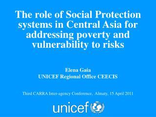 Elena  Gaia UNICEF Regional Office  CEECIS