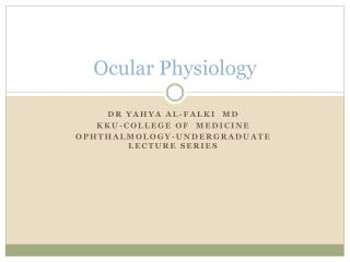 Ocular Physiology