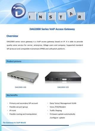 DAG2000 Series VoIP Access Gateway