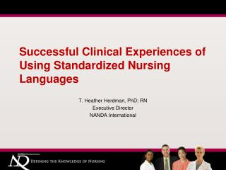 Successful Clinical Experiences of Using Standardized Nursing Languages