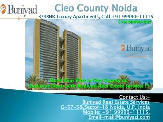 Cleo County at sector 121 Noida – New standard of living