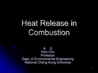 Heat Release in Combustion