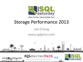 Storage Performance 2013