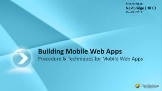 Building Mobile Web Apps