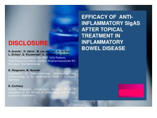 Efficacy of  anti-inflammatory  SI g As  after topical treatment in inflammatory bowel disease