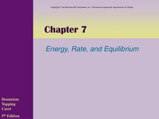 Energy, Rate, and Equilibrium