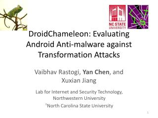 DroidChameleon : Evaluating Android Anti-malware against Transformation  A ttacks