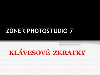 ZONER PHOTOSTUDIO 7
