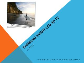 Samsung smart led 3d tv