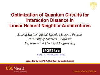 Optimization of Quantum Circuits for Interaction Distance in