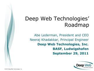 Deep Web Technologies' Roadmap