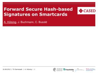 Forward Secure Hash-based Signatures on Smartcards
