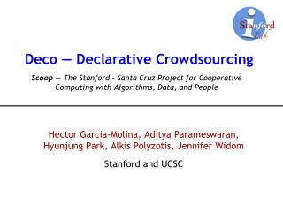 Deco — Declarative Crowdsourcing