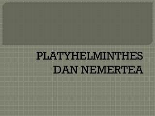 PLATYHELMINTHES  DAN  NEMERTEA
