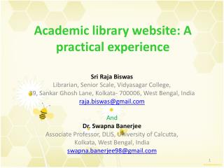 Academic library website: A practical experience