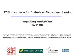 LENS: Language for Embedded Networked Sensing