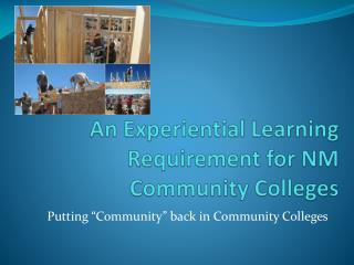 An Experiential Learning Requirement for NM Community Colleges