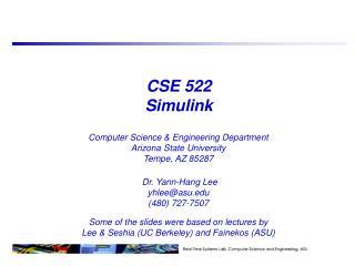 CSE 522 Simulink