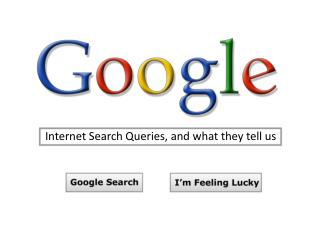 Internet Search Queries, and what they tell us