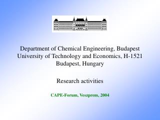 Department of Chemical Engineering, Budapest University of Technology and Economics, H-1521 Budapest, Hungary