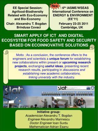 EE Special Session: Agrifood- Biodiversity Related with Eco-Economy and Bio-Economy