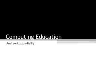 Computing Education
