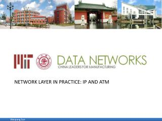 Network layer in practice: IP and  atm