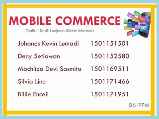 Mobile Commerce