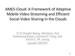 作者 : Xiaofei  Wang , MinChen ,  Ted  Taekyoung  Kwon , LaurenceT . Yang ,  and Victor C. M. Leung